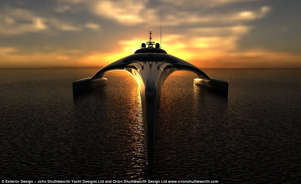 Into the sunset: The yacht has an integrated ship monitoring system, and can even be controlled with an Apple iPad within a 50-metre range