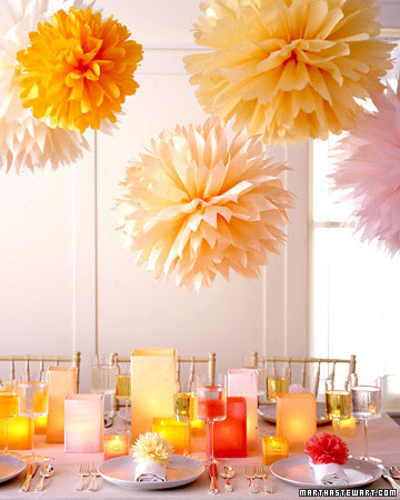 DIY Cute Tisue Pompoms.