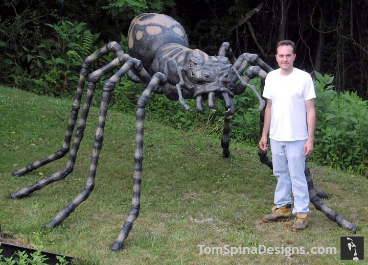 Large Foam Spider Prop For Halloween Or Events Tom Spina Designs