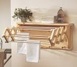 Breathtaking Wooden Folding Wall Shelf Drying Rack With Hook ...