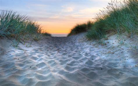 sand ocean grass sunset wallpapers sand ocean grass