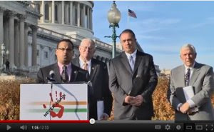 Congressman Keith Ellison speaking at CAG Press Conference