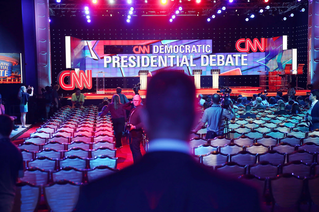 Democratic Presidential Candidates Hold First Debate In Las Vegas
