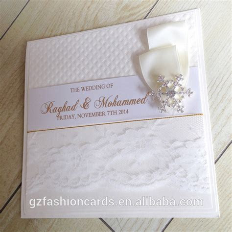 2015 Hot Sale Unique Luxury Kerala Wedding Cards   Muslim