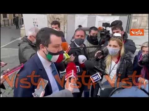 """Salvini: """"Ho incontrato Draghi, ecco di cosa abbiamo parlato"""""""