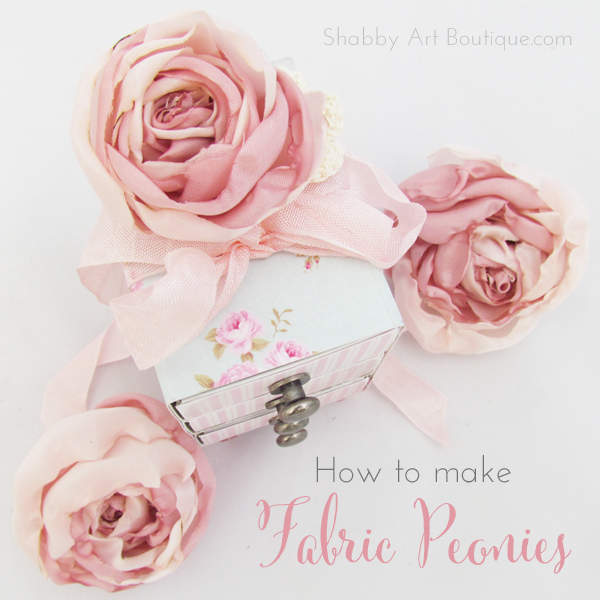 Shabby Art Boutique - DIY Tecido Peonies 9