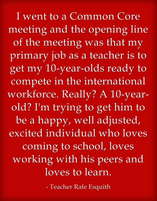 Quote Of The Day Educators On What Standardized Testing Means