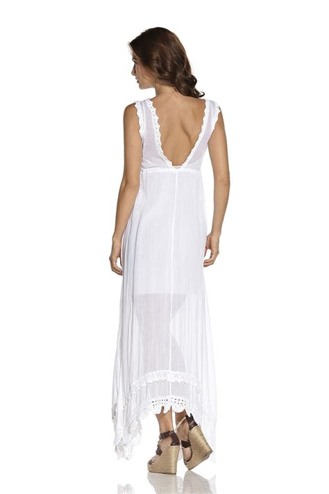 white cotton maxi dress  women dresses