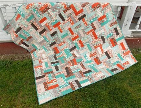 Rail Fence Jelly Roll Quilt Pattern