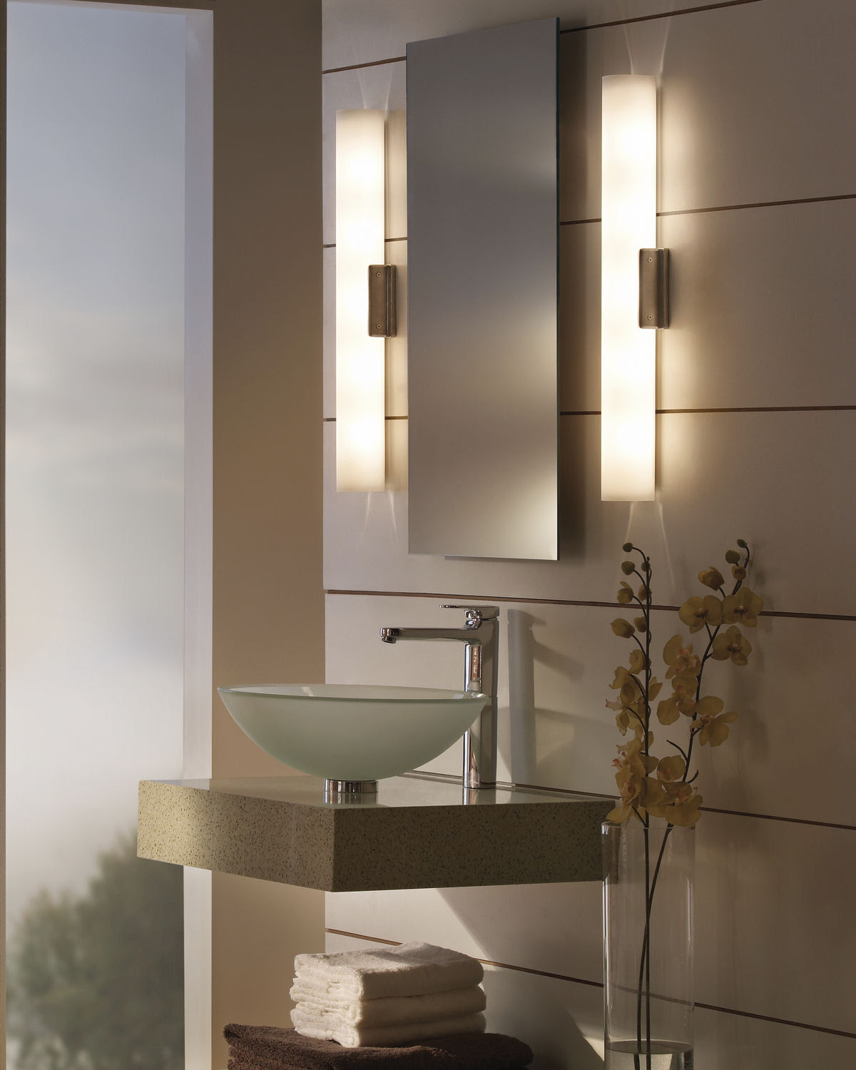 Contemporary wall light for bathroom mirrors - SOLACE - TECH LIGHTING