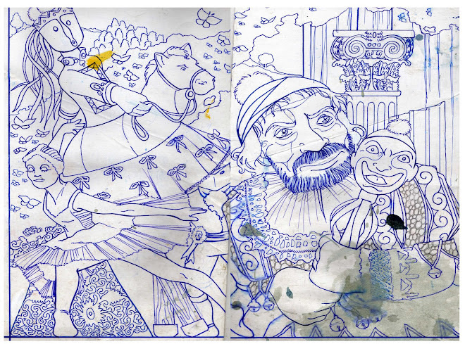 bocetos para un mural de 430m cuadrados