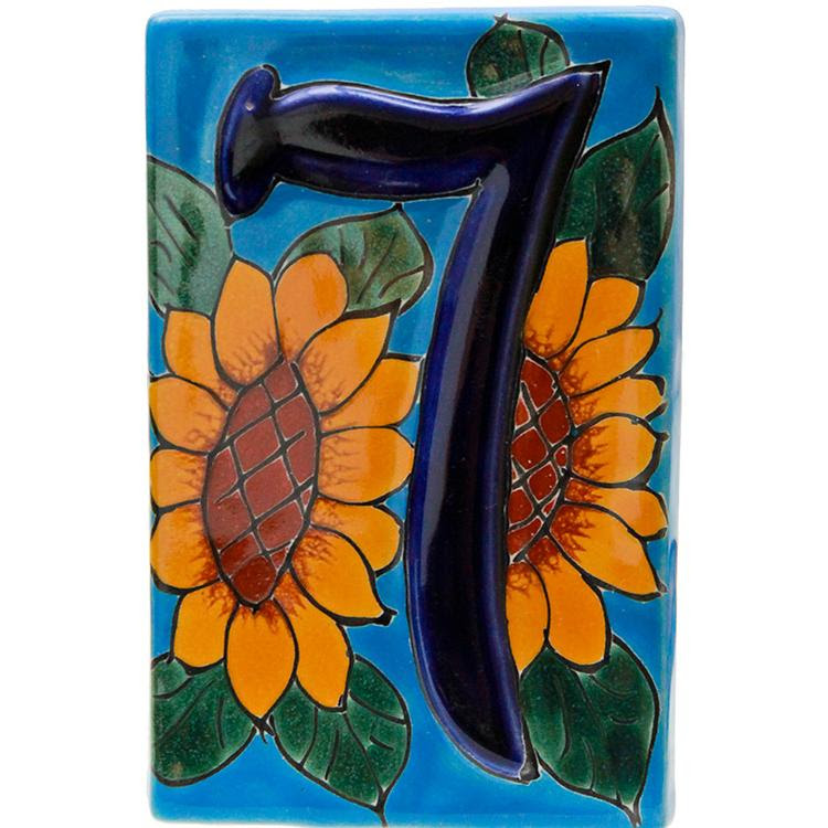 Talavera House Numbers - House Numbers:Talavera Sunflowers ...