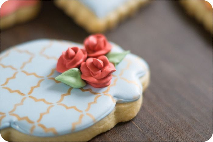 fall floral decorated cookies