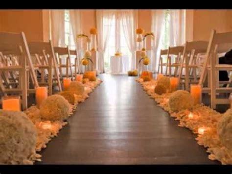 Wedding aisle decor   YouTube