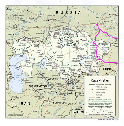 Kazakhstan with Route