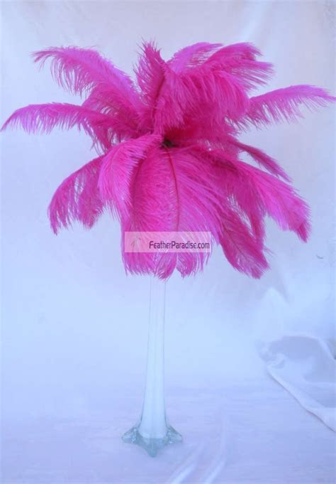 Feather Plume Palm Tree Fuchsia/Magenta Ostrich Feather