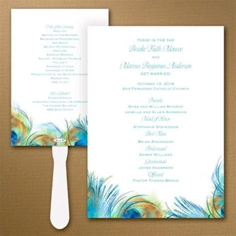 45 best Wedding Program Ideas images on Pinterest   Craft