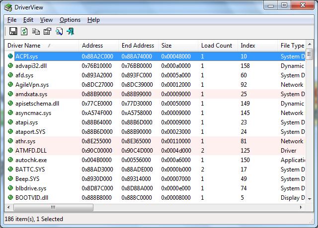 برنامج بسيط يوفر لك معلومات تفصيلية عن برامج التشغيل والتعريفات بجهازك DriverView v1.43