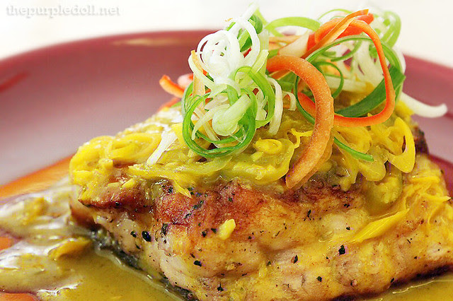 Pan-fried Sea Bass Fillet with Lemongrass, Chili and Turmeric