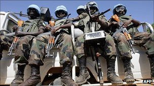 United Nations peacekeepers in the Darfur region of Sudan. Three of these soldiers were killed on October 11, 2011. by Pan-African News Wire File Photos