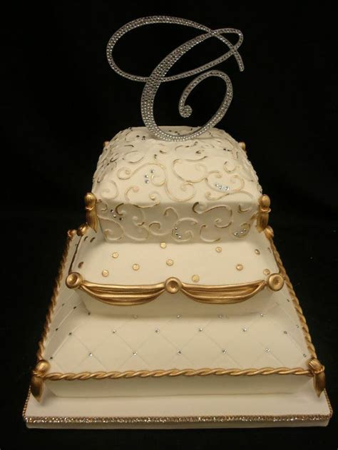 60 best Gold Wedding Cakes by Party Flavors Custom Cakes