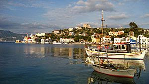 the port of Kastelorizo. Photo by User Cyverius