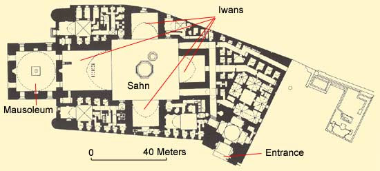 Plan of the Sultan Hassan Mosque and Madrasa