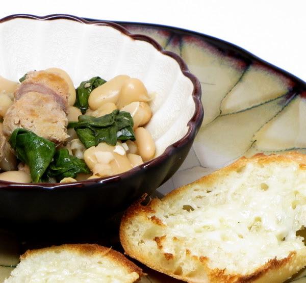Sausage and Bean Stew (Crock Pot) | 400 Calories or Less