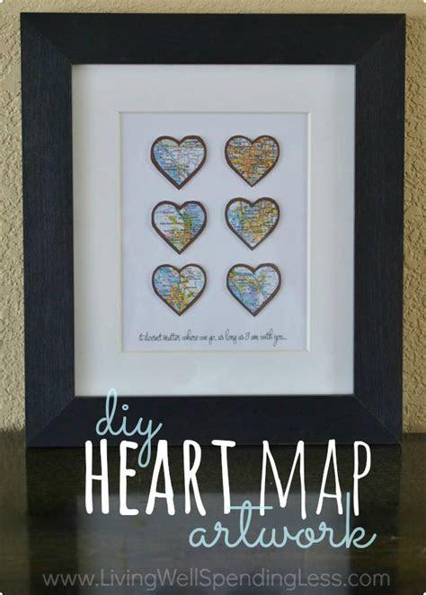 DIY Heart Map Wall Art Project   Living Well Spending Less®