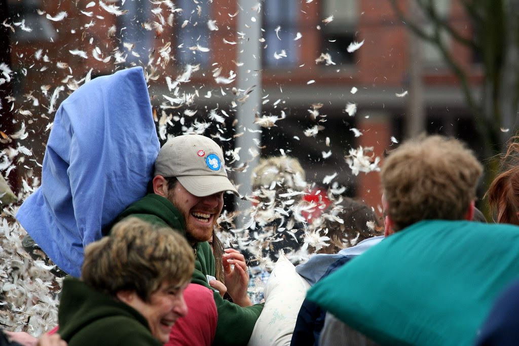 Oooooops! A Pillow Explodes