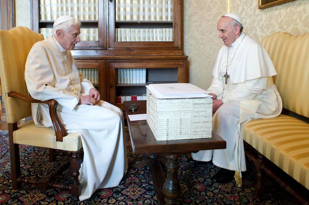 Historic: Two Popes met for the first time in history
