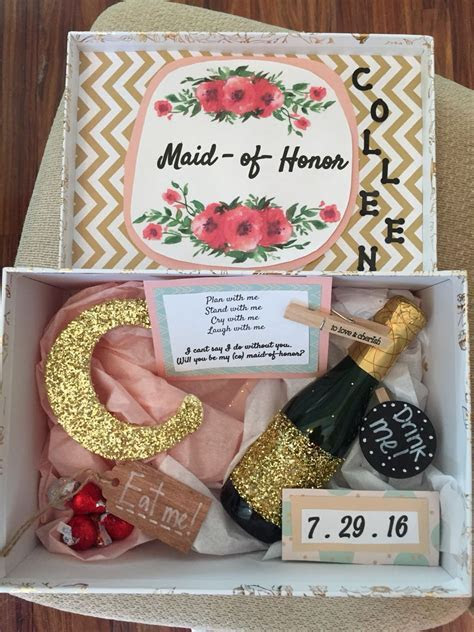 Fun DIY way to ask your bridesmaids and maid of honor
