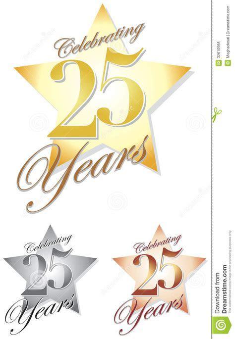 Celebrating 25 Years/eps Royalty Free Stock Image   Image