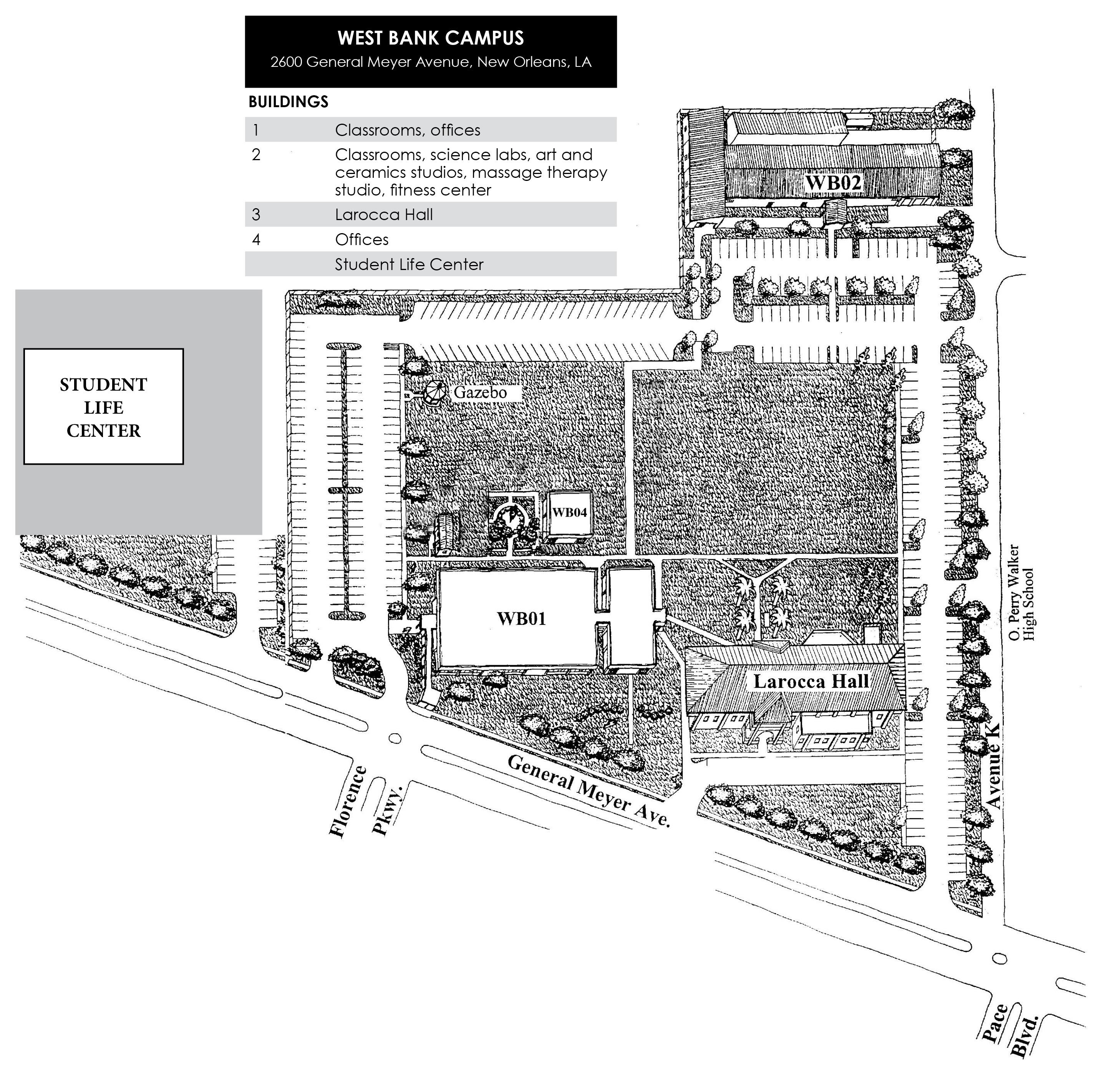 Delgado City Park Campus Map