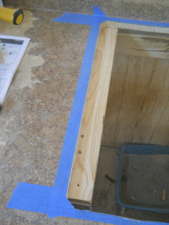 Kitchen Sink Side Chiseled Out