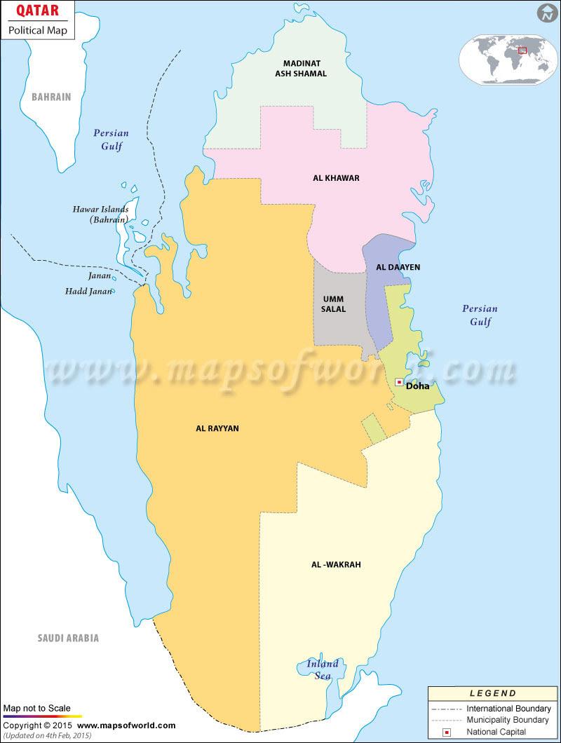 maps  map qatar