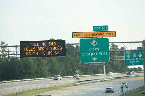 Last Exit before toll and by the way Tolls begin tomorrow.