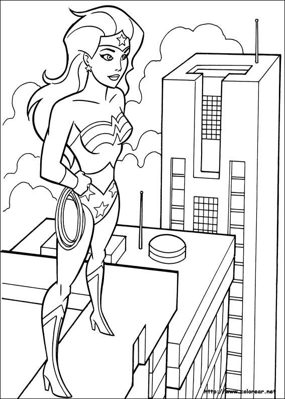 Dibujos De Mujer Maravilla Para Colorear En Colorearnet