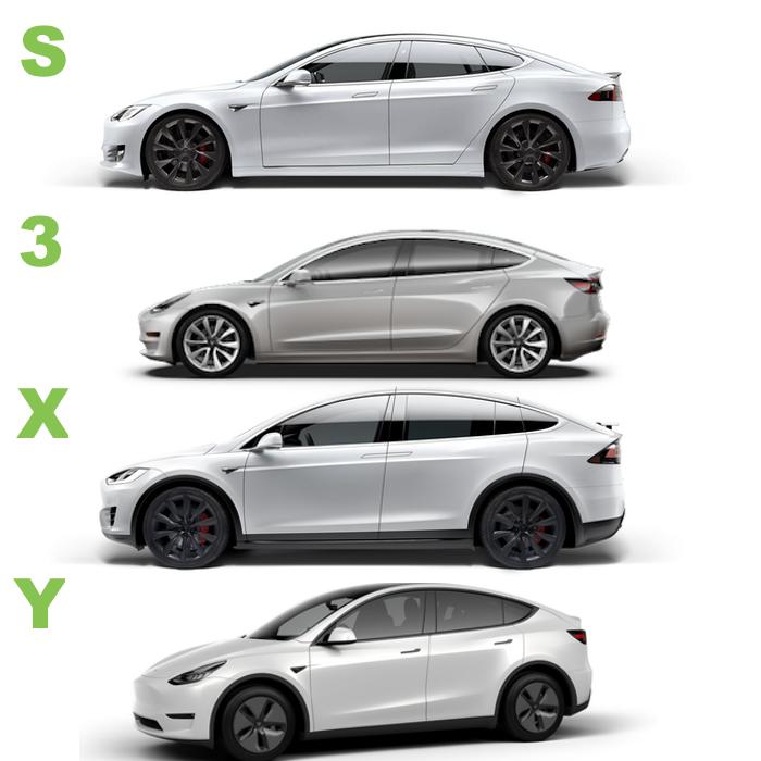 Tesla Model 3 Vs Model S Vs Model X Vs Model Y - Vários ...