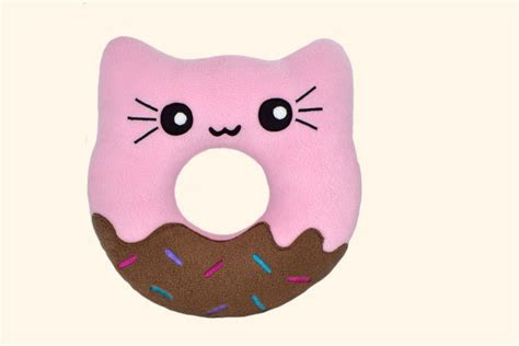 doughnut kitty pillow kawaii donut plushies