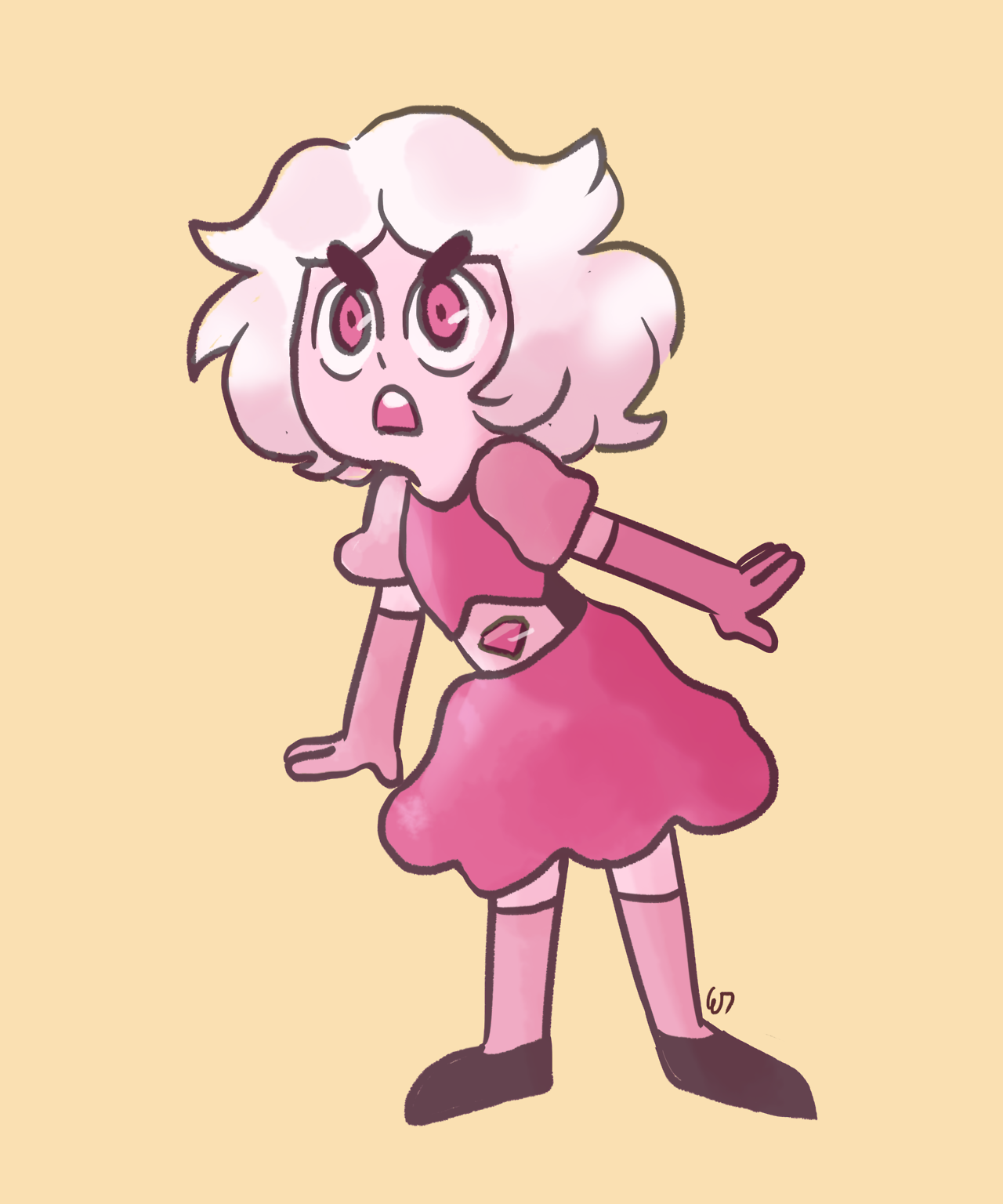 i wanted to draw a tiny pink diamond!!! everyone's baby sister