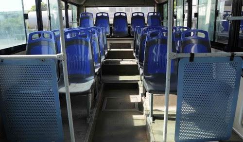 Interior de un ómnibus. Foto: Roberto Morejón Rodríguez/ACN