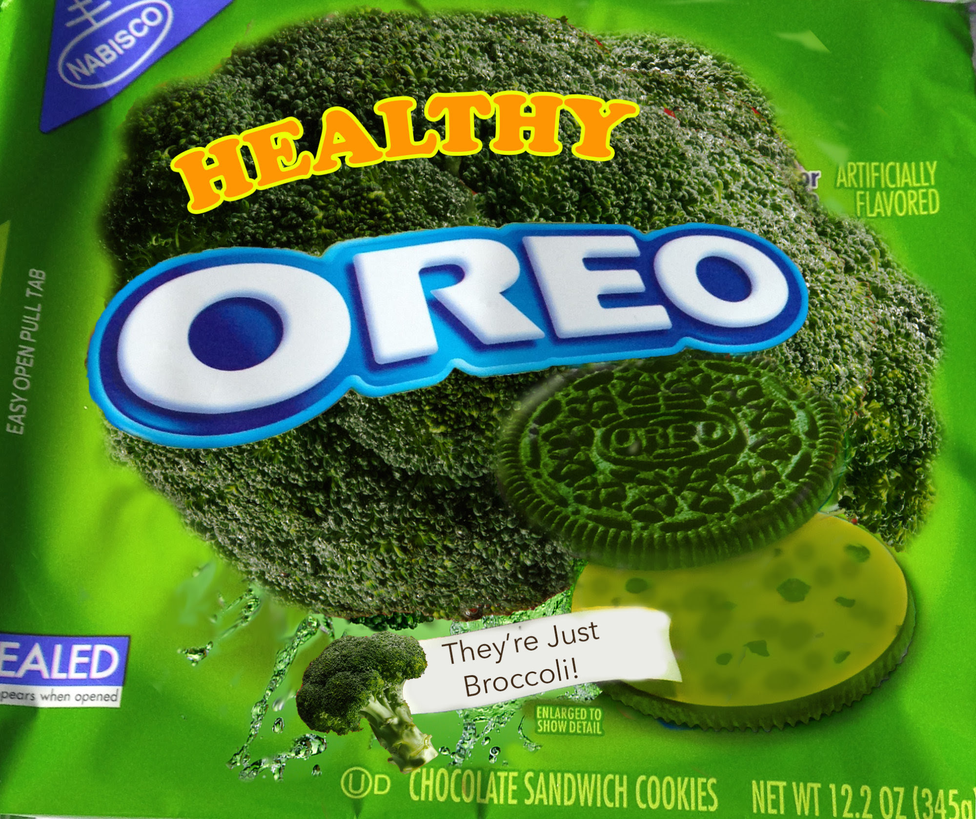 healthy broccoli oreos