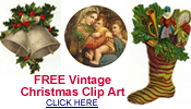 vintage Christmas clipart graphics