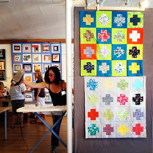 Modern cross quilts from Saturday's PNW meetup.