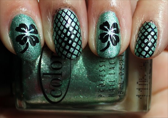 Nail Art Shamrock Nails Swatch And Learn