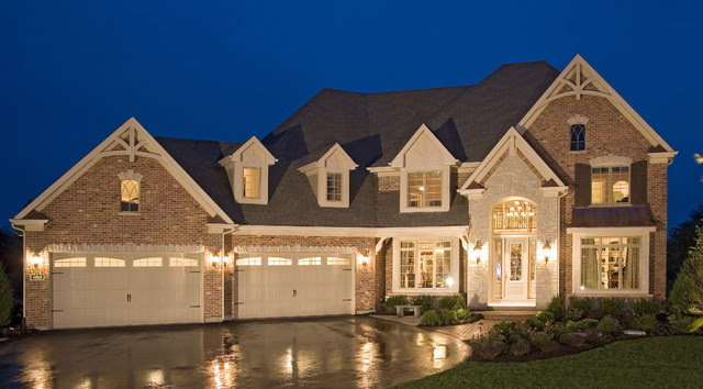 Elegant Traditional Home with English Pub  Traditional  Exterior  other metro  by John Hall