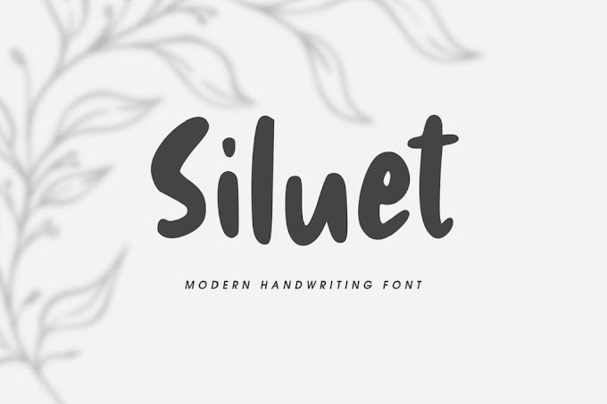 Siluet - Modern Handwriting Font