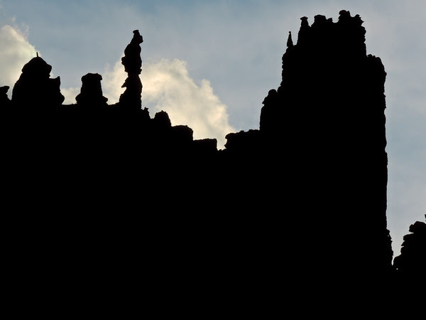 towers in silhouette