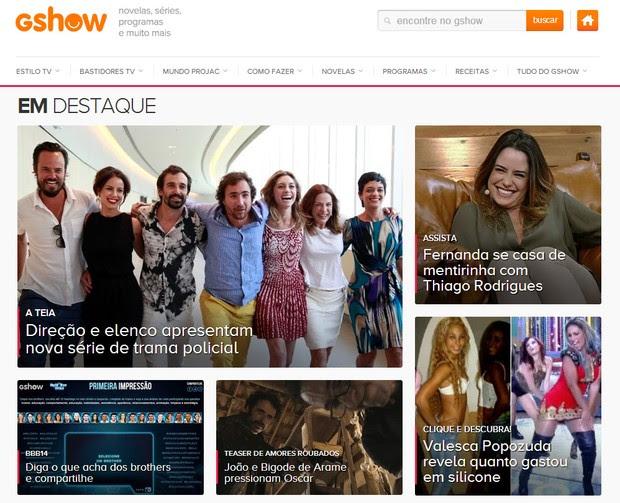 Portal GShow (Foto: Divulgação / TV Globo)